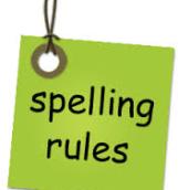 spelling rule