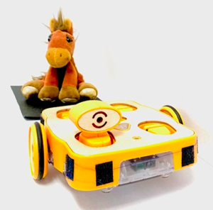 KIBO robot hauling a horse